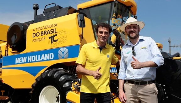 Campeão olímpico visita estande da New Holland no Show Rural Coopavel